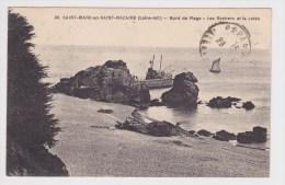 (RECTO / VERSO) SAINT MARC EN SAINT NAZAIRE EN 1923 - N° 39 - BORD DE PLAGE - LES ROCHERS ET LA JETEE - Other Municipalities