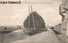 FRENEUSE VUE SUR L'EGLISE ET LA CAMPAGNE ATTELAGE 78 YVELINES - Freneuse