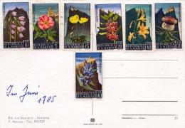 SAN MARINO - 7 Sondermarken Auf Ansichtskarte - San Marino