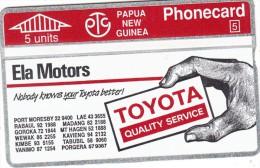 PAPUA NEW GUINEA - Ela Motors/Toyata 2, CN : 211B, Tirage 10000, Mint - Papua New Guinea