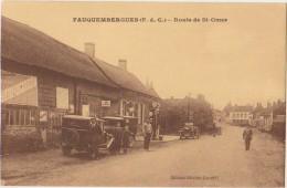 CPA 62 FAUQUEMBERGUES Route De Saint Omer Auto Tacot Pompe à Essence Michelin Mobiloil - Fauquembergues