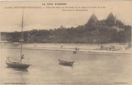 """33-ARCACHON-MOULLEAU-Villa """"STE-ANNE"""" Sur Les Bords De La Plage Et La Forêt De Pins 1914 Animé - Arcachon"""