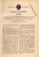Original Patentschrift - George Kingdon In Dartmouth , Devonshire , 1886 , Rotating Machine , Pump , Devon !!! - Tools