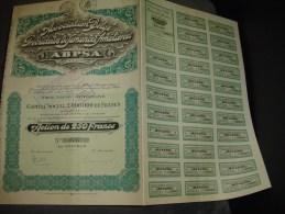 """Action De 25 F""""Association Belge Des Producteurs De Semences Améliorées""""Jodoigne 1927 Bon état - Agriculture"""