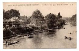 CP, 94, LA VARENNE CHENNEVIERES, La Marne Au Quai De La Varenne, écrite, Voyagé En 1919 - Autres Communes