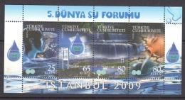 4.- 001 TURKEY TURQUIE 2009. MINIATURE SHEET. WATER FORUM. - Nuevos