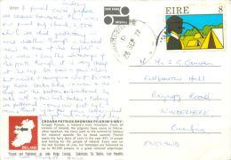 Croagh Patrick, Co Mayo, Ireland postcard used posted to UK 1977 nice stamp John Hinde