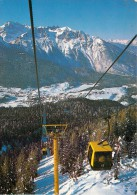 Andalo Gondola Ski Resort, Italy Italia Postcard Used Posted To UK 1990s Stamp - Italy