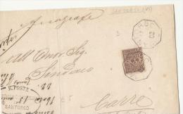 DE171-1902 Frammento Da SANTORSO (vi)-timbro COLLETTORIA OTTOGONALE+timbro R.POSTE SINDACO SANTORSO - Poststempel