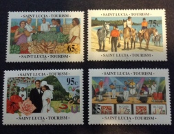 ST. LUCIA - 1996 Sc 1038/1041 Mnh** - St.Lucie (1979-...)