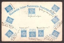 NL156) Nederland - Inter-Nationale Postzegeltaal - Stamp Language - 1907 - Timbres (représentations)