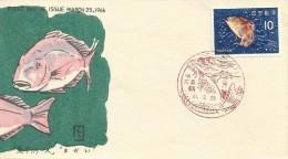 Japan 1966 Sea Life, Bream, FDC - FDC