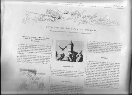 ILLUSTRATION 07/1891:20 P:employés Chemins De Fer  -ambulances Urbaines :- Cirque D´été -attaque Tramway Bougival - Revues Anciennes - Avant 1900