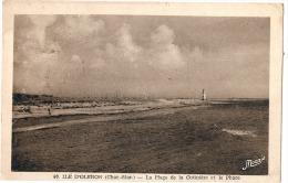 île D'Oleron La Plage De La Cotiniere Et Le Phare - Timbrée TTB - Ile D'Oléron