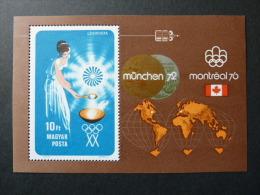 """BLOC FEUILLET """"HONGRIE"""" J.O. MUNICH 72 - BF 102 (YetT)  Dentelé - Summer 1972: Munich"""