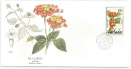 Barbade 1992 829 FDC - Fleurs Sauvages - Dessin Basil Smith - Barbades (1966-...)