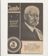 HINDENBURG - 1933 , Jambo Heft 10 - Zum 86. Geburtstag  -  Dispatch: Big Letter - 5. Zeit Der Weltkriege