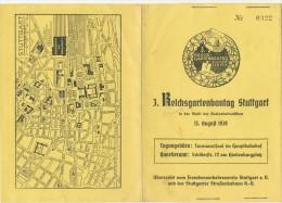 STUTTGART - 3. Reichsgartenbautag - Programme