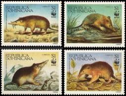 (WWF-160) W.W.F. Dominican Republic MNH Hispaniolan Solenodon Stamps 1994 - W.W.F.
