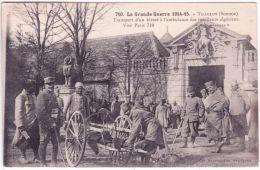710- WWI - TILLOLOY -transport D'un Blessé à L'ambulance Des Tirailleurs Marocains - Photo Express - Andere Gemeenten