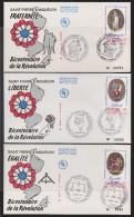 ST. PIERRE MIQUELON  FDC  BICENTENAIRE REVOLUTION FRANCAISE  Réf  6469 - Franz. Revolution