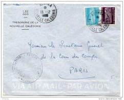 NCE : Timbres De Service Sur Lettre De 1980 Pour La France - Briefe U. Dokumente