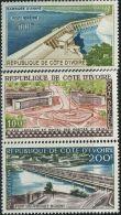 FB0732 Côte D'Ivoire 1959 Building Bridges Dams 3v MLH - Côte D'Ivoire (1960-...)