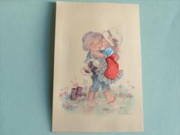 ENFANTS , Cpa Tissu Illustrateur CONSTANZA - Brodées