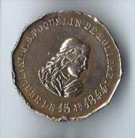 Médaille Commémorative/ Inauguration / Jean Baptiste Poquelin De MOLIERE /1844    D437 - Medals
