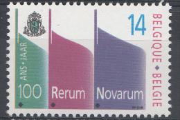 BELGIQUE Mi.nr.:2460  100.Jahre Enzyklika 1991 Neuf Sans Charniere / Mnh / Postfris - België