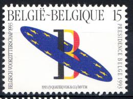 BELGIQUE Mi.nr.:2571 Vorsitz Belgiens In Der Europäischen Union 1993 Neuf Sans Charniere / Mnh / Postfris - België
