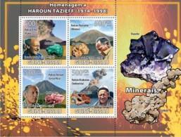 GUINEA BISSAU HAROUN TAZIEF VOLCANO MINERALS S/S MNH C8 GB8310A - Minerals