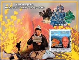 GUINEA BISSAU HAROUN TAZIEF VOLCANO MINERALS S/S MNH C8 GB8310B - Minerals
