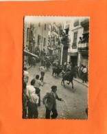 SEGORBE  VALENCIANA VALENCIA VALENCE CORRIDA DE RUE  ENCIERRO DE LOS TORROS  CIRC  OUI  1950 - Valencia