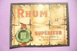 SUPERBE ETIQUETTE NEUVE  A IDENTIFIER   !!! A SAISIR ... - Rhum