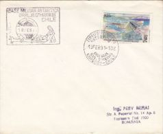 CHILE ANTARCTIC MILITARY BASE, SLEIGH DOGS, SPECIAL POSTMARKS AND STAMPS ON COVER, 1991, CHILE - Research Stations