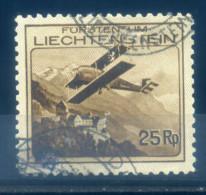 LIECHTENSTEIN - 1930 AIRMAIL 25RP BROWN - Liechtenstein