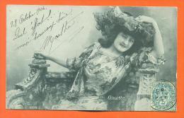 "Carte Fantaisie Artiste   ""  Ginette ""   Carte Precurseur - Femmes Célèbres"