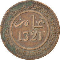 Maroc, Abdul Aziz, 10 Mazunas, AH1321/1903, KM 17.1 - Maroc