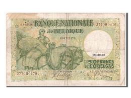[#303398] Belgique, 50 Francs / 10 Belgas Type Anto Carte - [ 2] 1831-... : Regno Del Belgio