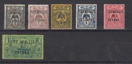 Wallis Et Futuna Timbre De 1905 De Nelle Calédonie Surchargés  6 Valeurs - Usados