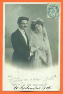 "Carte Fantaisie Mariage   ""  Couple De Maries  "" - Feiern & Feste"