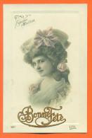 """Carte Fantaisie En Creux Femme   """"  Bonne Fete  """" - Feiern & Feste"""