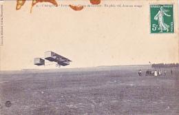 23657 L´aéroplane Farman Au Camp De CHALONS,plein Vol Dans Virage -lib Militaire Guerin -  !etat !