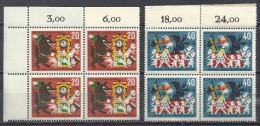 Deutschland 1963 Mi 410 411 Je 4erBlock / Eckrandviererblock - [7] Federal Republic