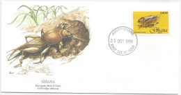 Ghana 1991 1250 FDC - Insectes - Taupes Grillons - Dessin Basil Smith - Ghana (1957-...)