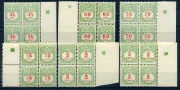 LUXEMBOURG TAXE 1928 N° 17/ 22 BLOCS DE 4 ** MNH - Taxes