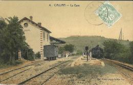 83 - CALLIAN - LA GARE - TRAIN - ANIMEE - SUPERBE - Altri Comuni