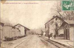 83 - SILLANS LA CASCADE- AUPS - LA GARE - TRAIN - - Altri Comuni