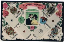 Cpa Arts Divinatoires Carte Tarot Jeux De Cartes Carte à Jouer Esotérisme Art Divin Spirituel Trefle Amour Valet Roi As - Objets D'art